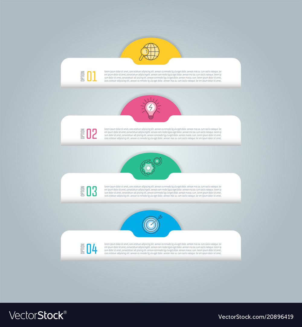 Infographic design business concept with 4 options