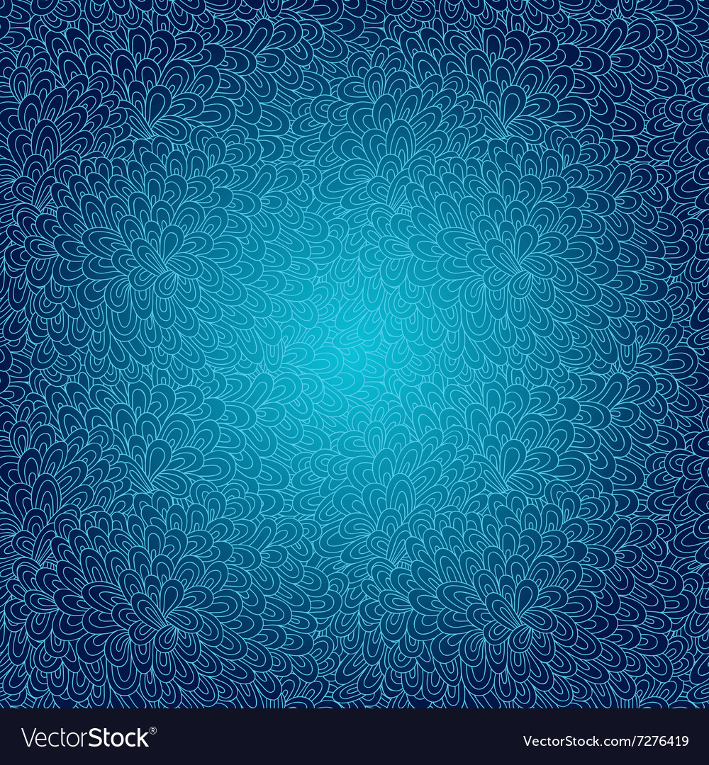 Seamless floral lace pattern vector image