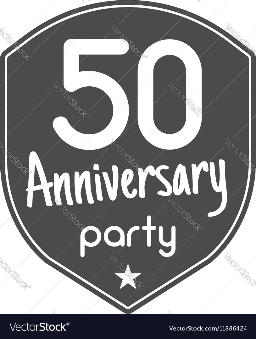 50 years Anniversary badge sign and emblem with