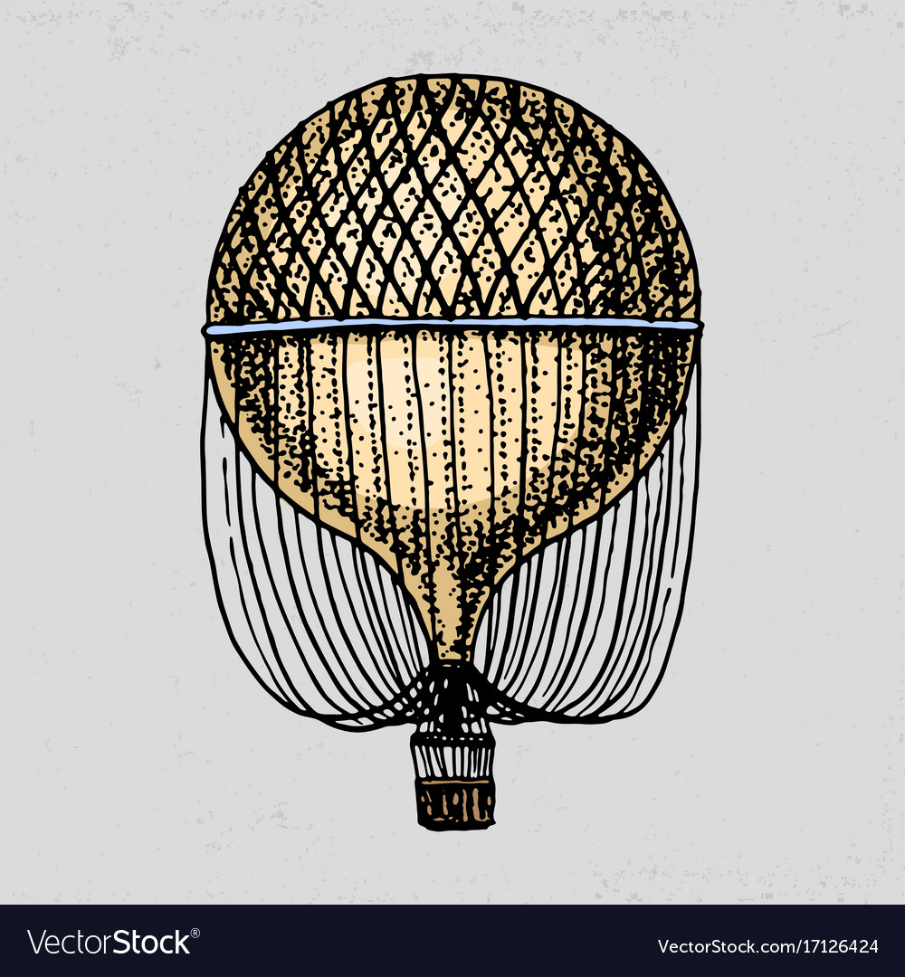 Air balloon or aerostat for travel vector image