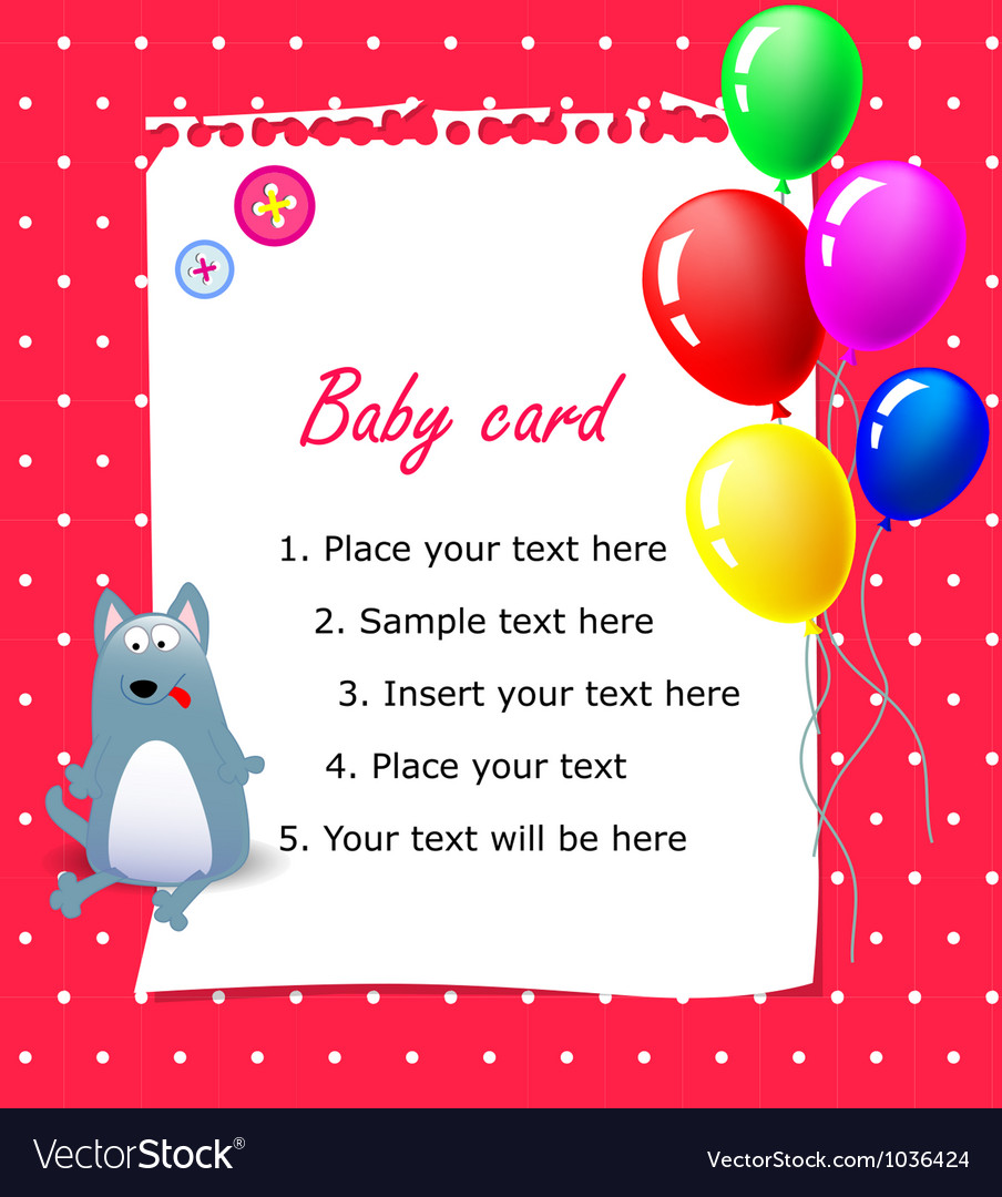 Baby Happy birthday card pink