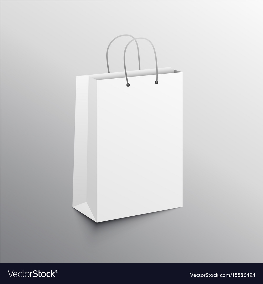 shopping bag template  Empty shopping bag mockup design template Vector Image