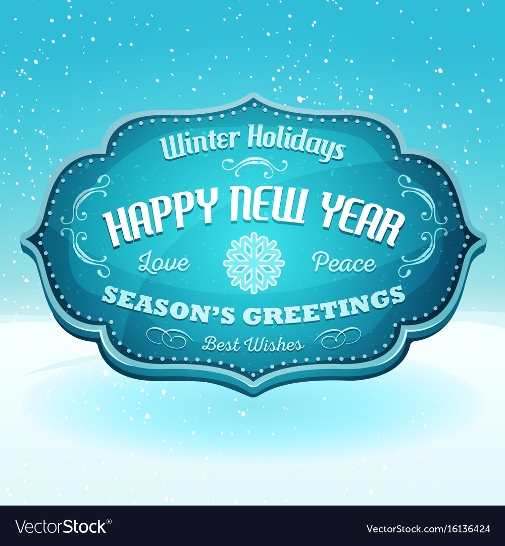 Happy New Year And Seasons Greetings Banner Vector Image