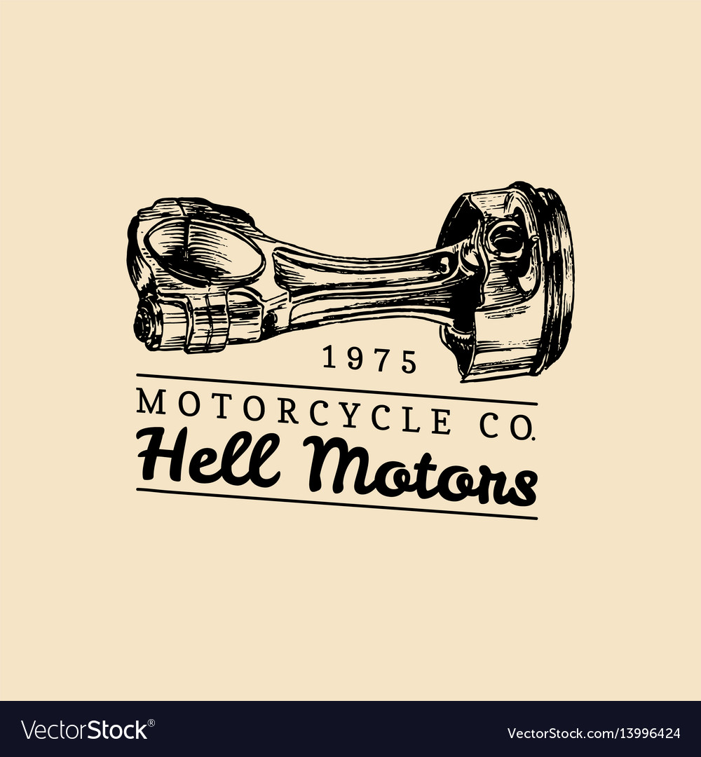 Hell motors vintage motorcycle repair logo