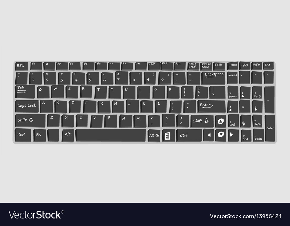 Keyboard mockup for laptop