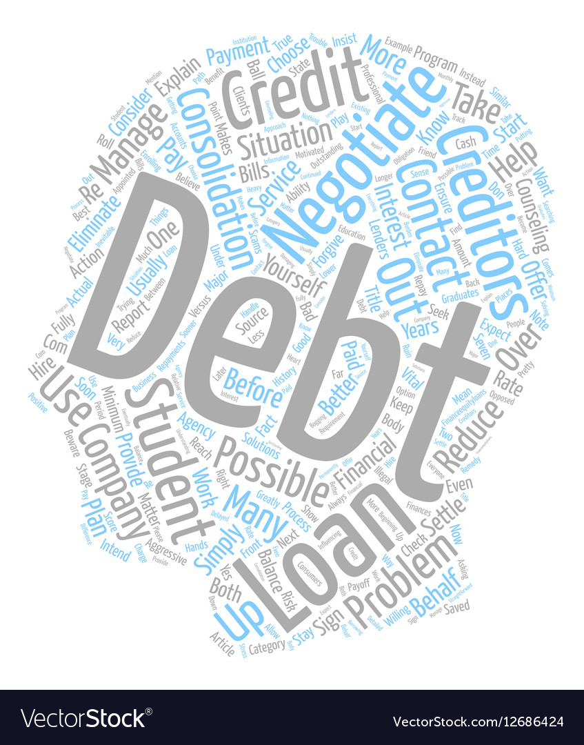 Negotiate Your Student Loan Debt text background vector image