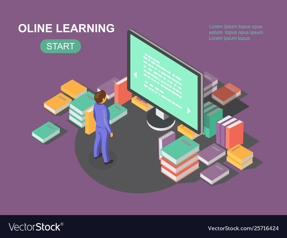 Online learning concept e-learning school