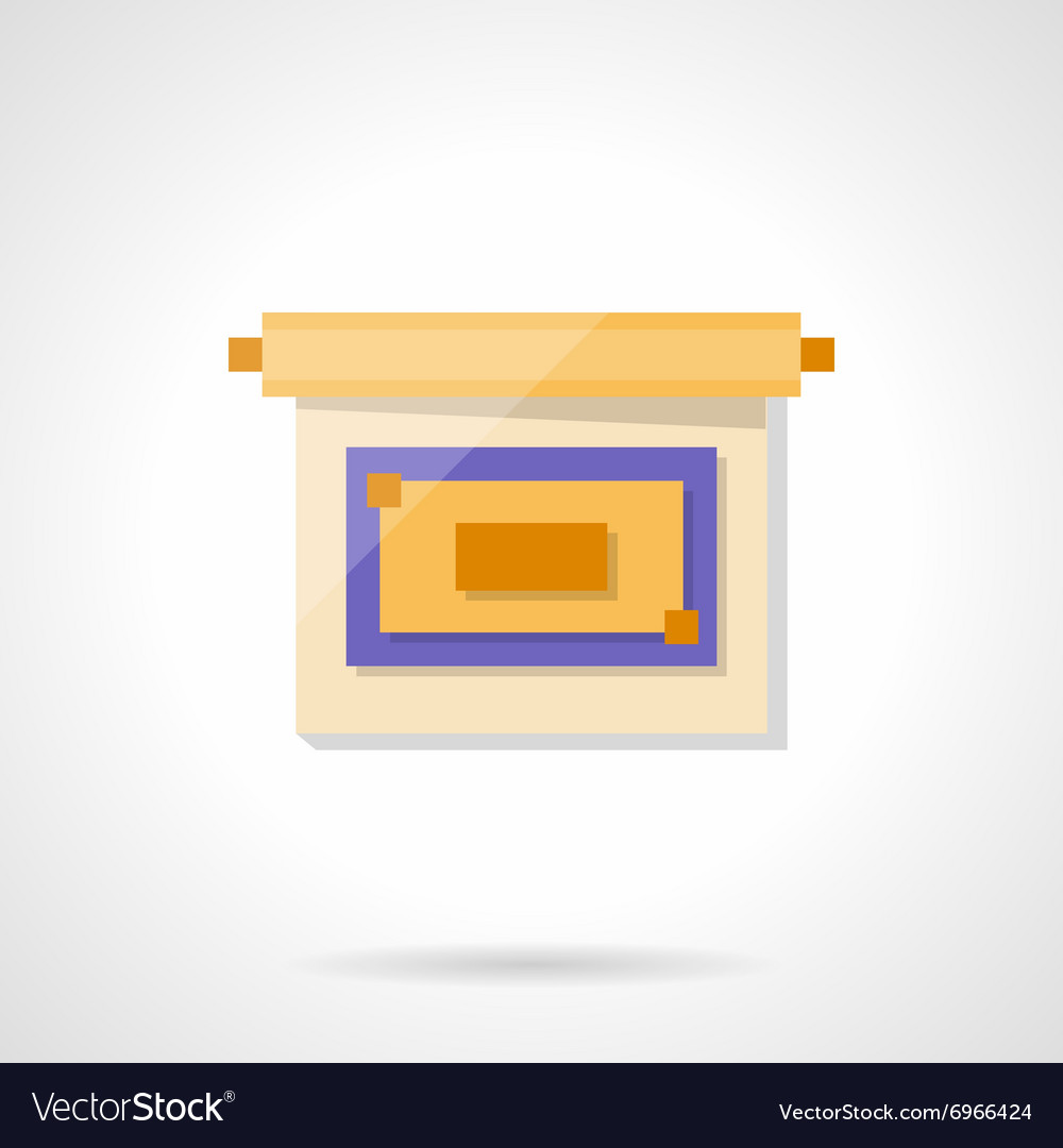 Presentation flat color style icon