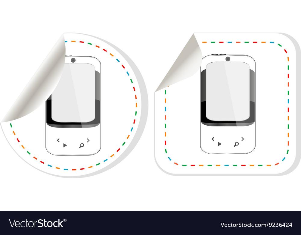 Smart phone sticker set