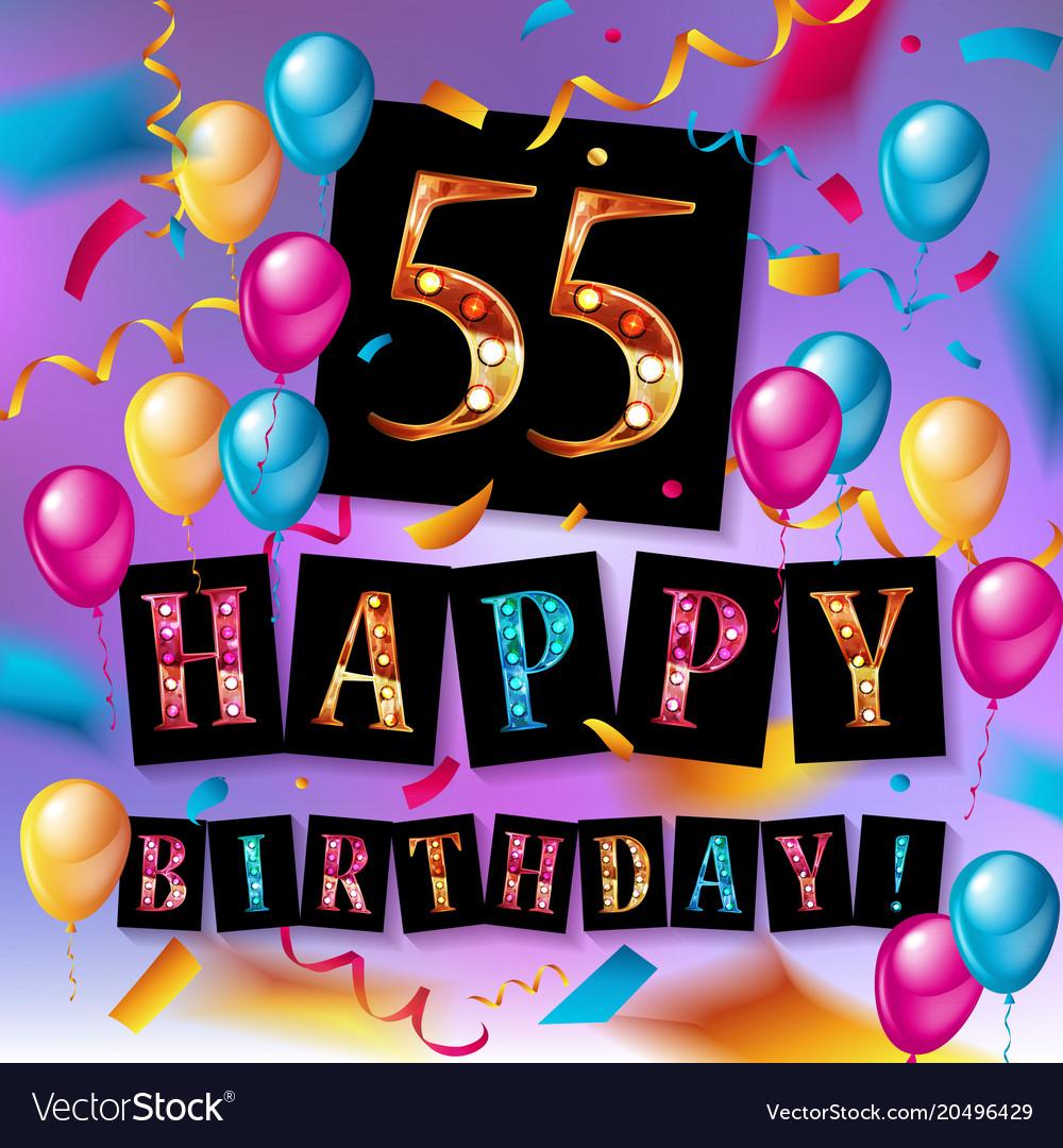 55 years anniversary celebration design