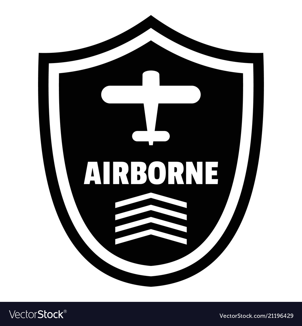 Airborne badge logo simple style