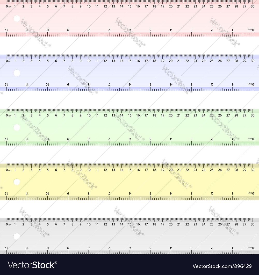 Centimeter and inch ruler
