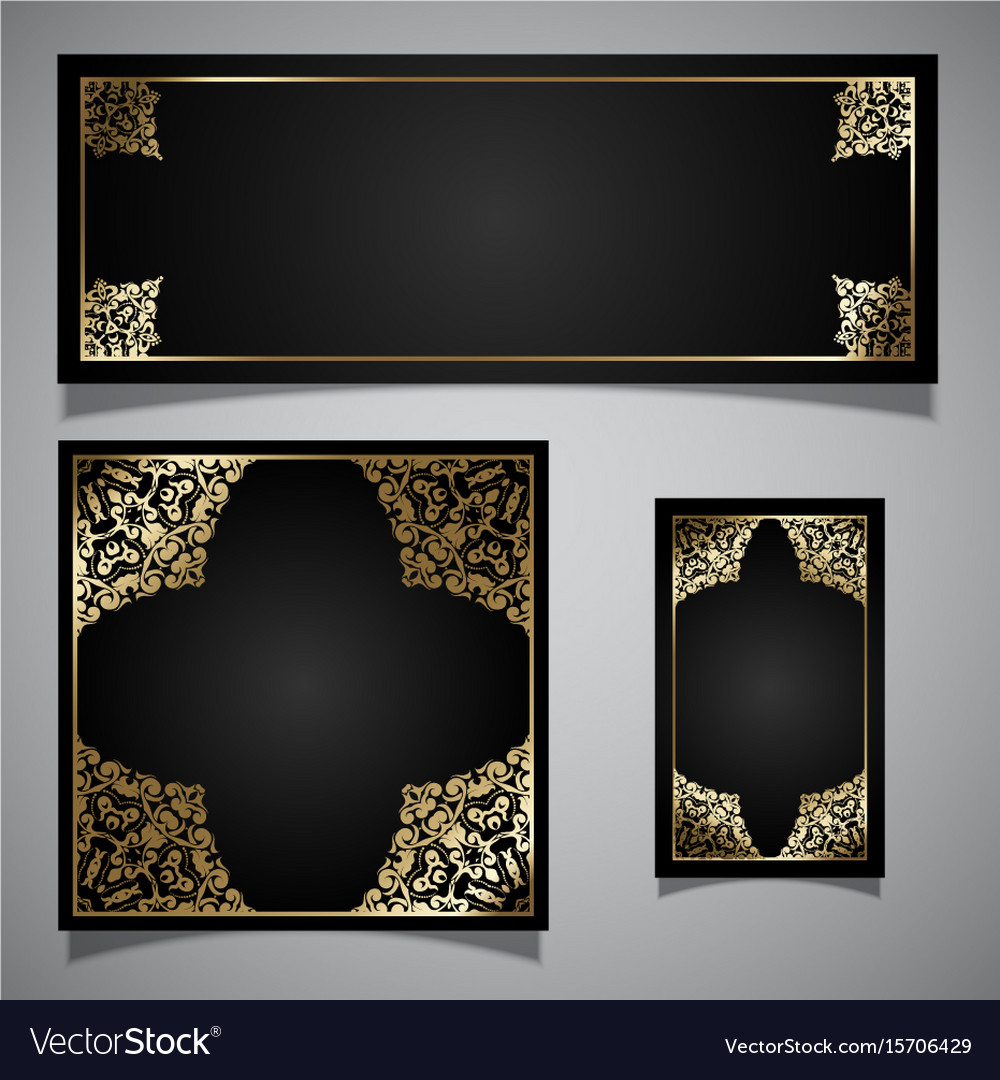 Elegant backgrounds collection vector image