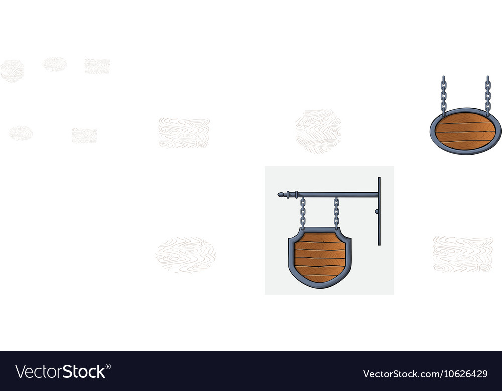 Medieval wood sign vector image