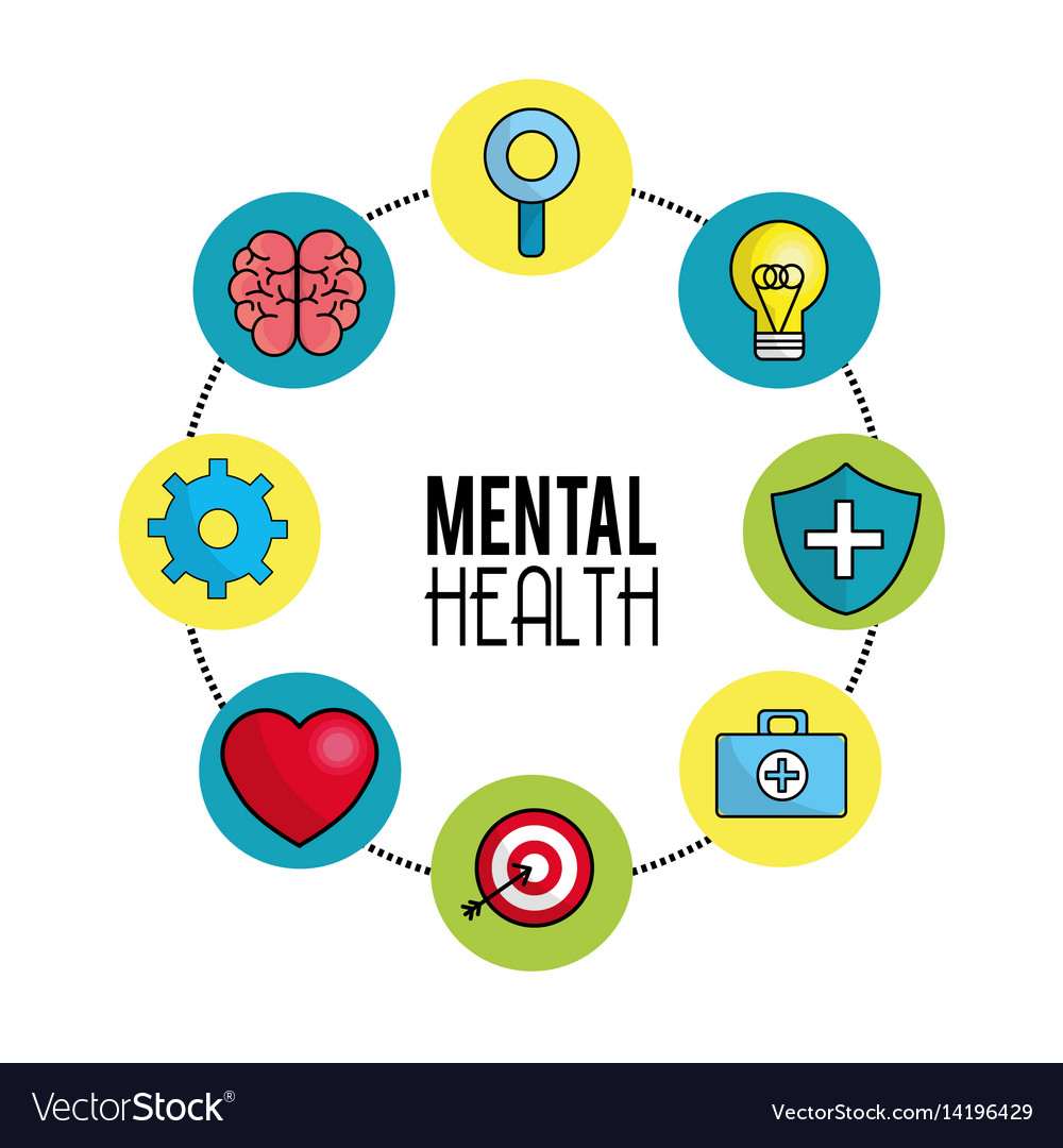 Mental Health Symbol Tips Royalty Free Vector Image