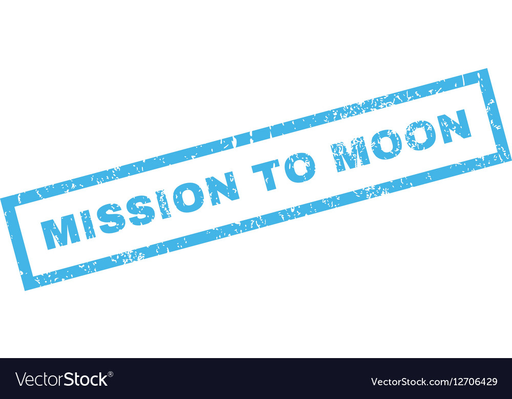 Mission To Moon Rubber Stamp