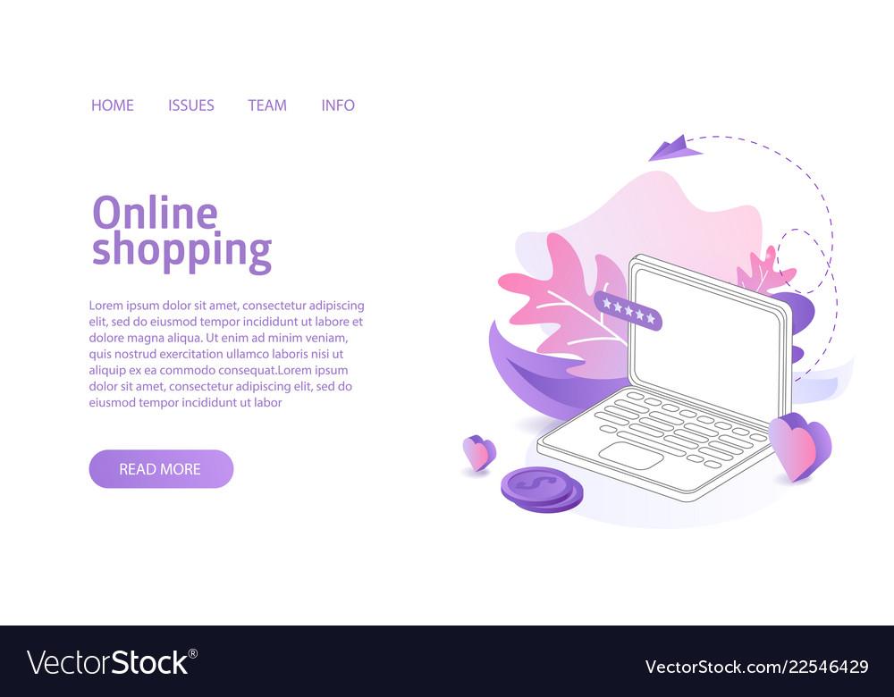 Online shop website landing or e-commerce