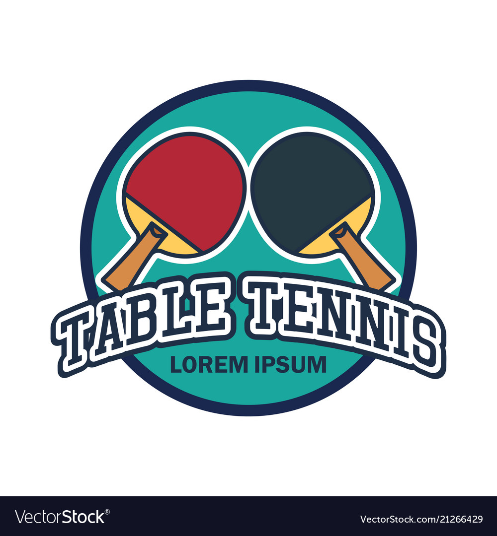 Table Tennis Ping Pong Logo With Text Space