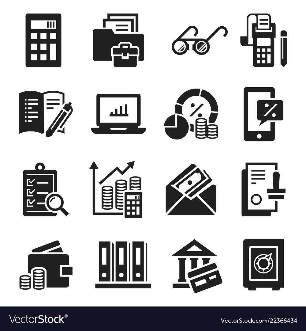Accounting international day icon set simple