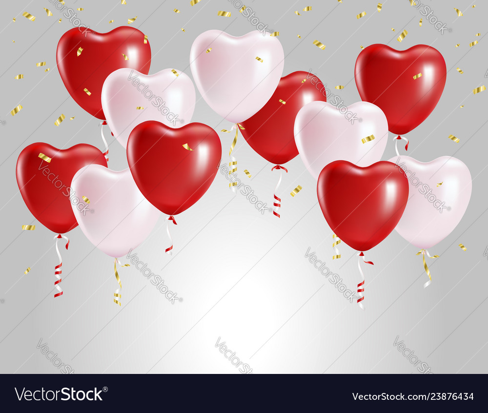 Balloons in form hearts