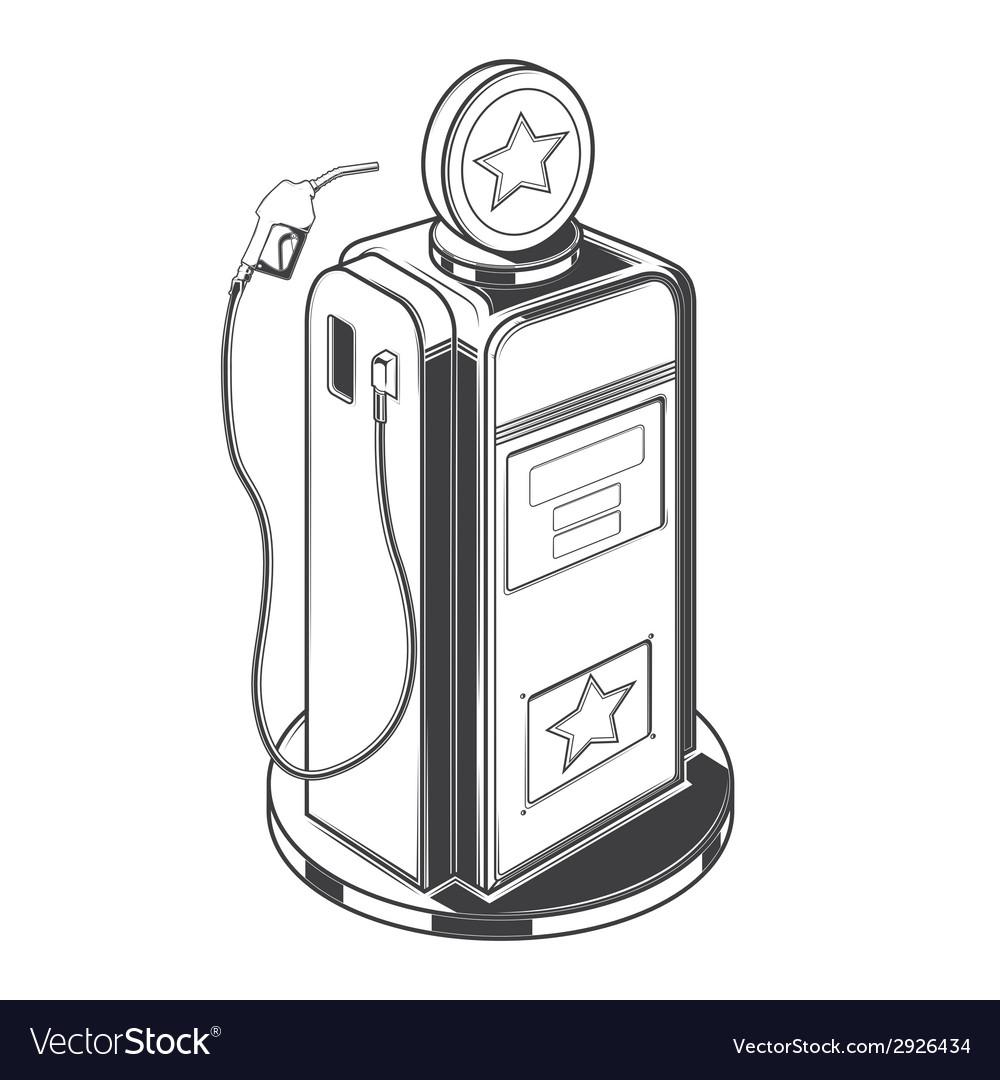 Gasoline station pump