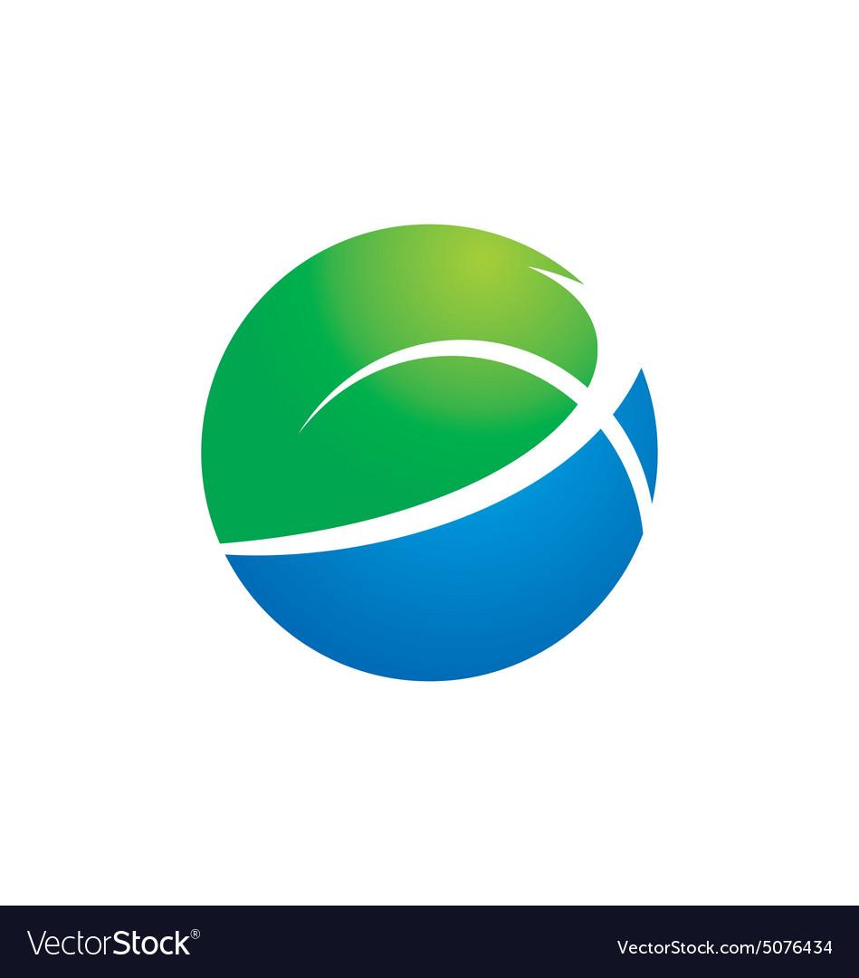 Globe earth ecology logo