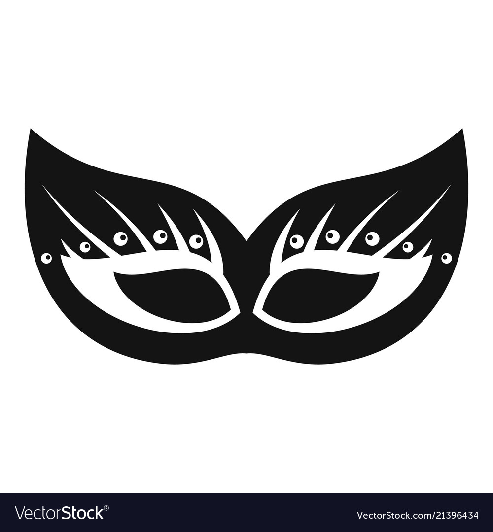 Italian festive mask icon simple style