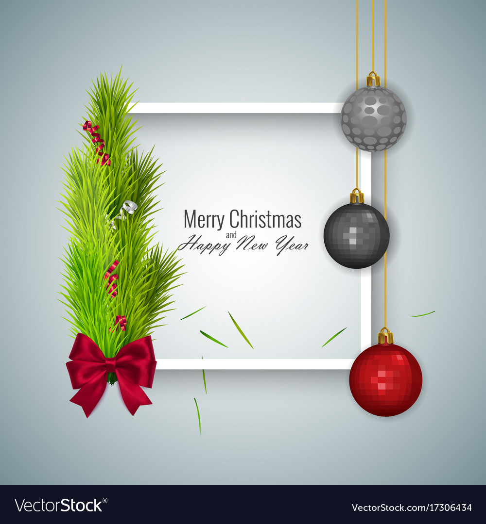 Merry christmas and happy new year 2018 greeting