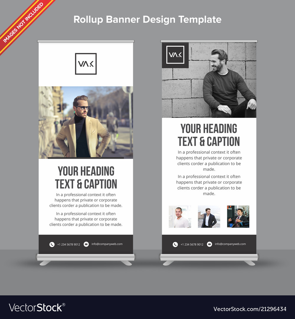 Minimal black and white rollup banner