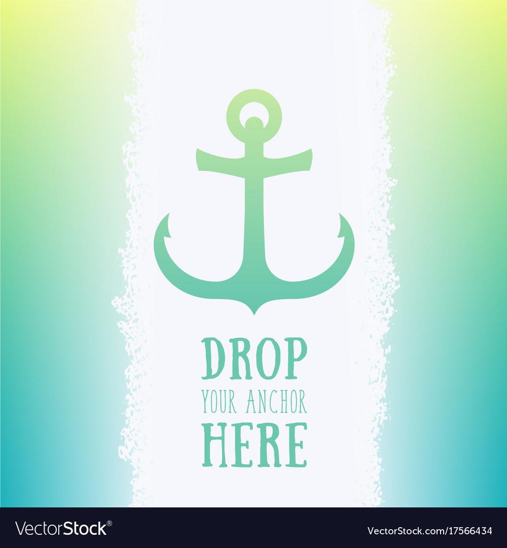 Nautical anchor icon logo element