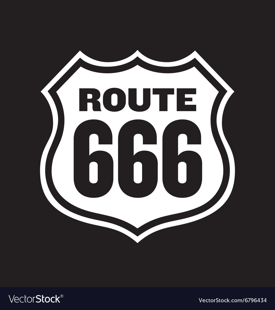 Route 666 road sign