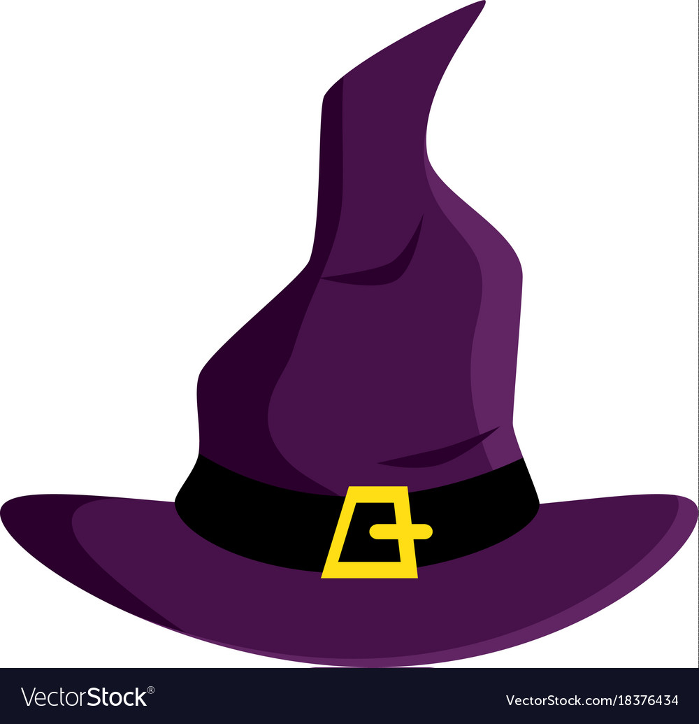 Witch hat isolated icon