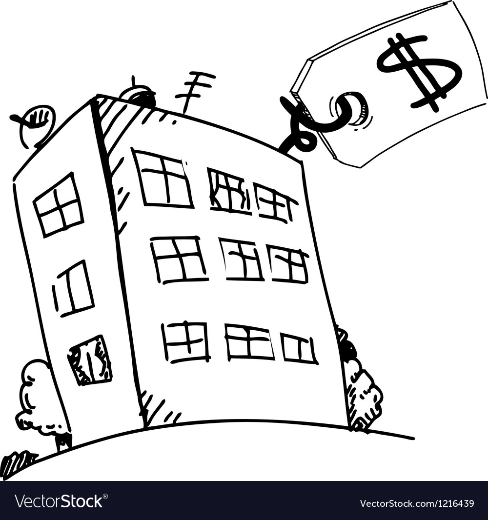 Block of flats with sale or price label