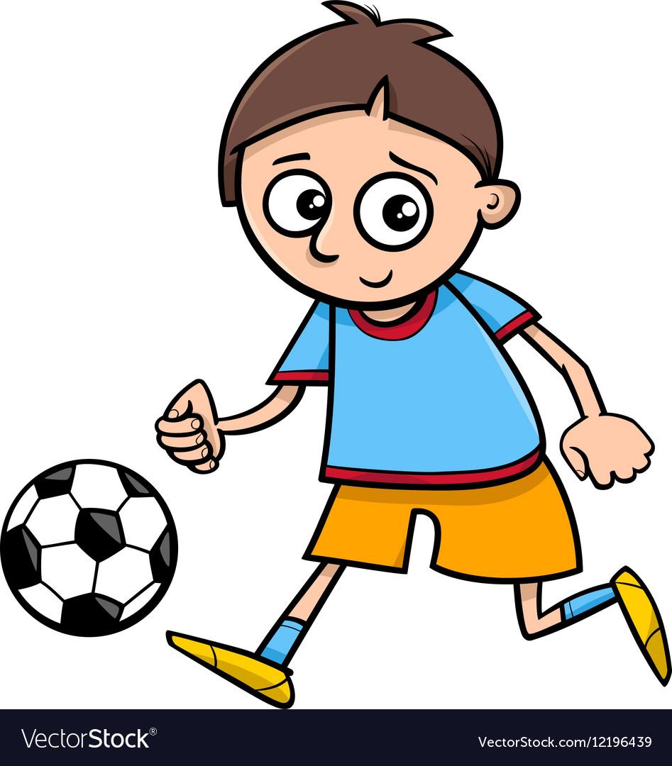 Boy playing ball cartoon Royalty Free Vector Image