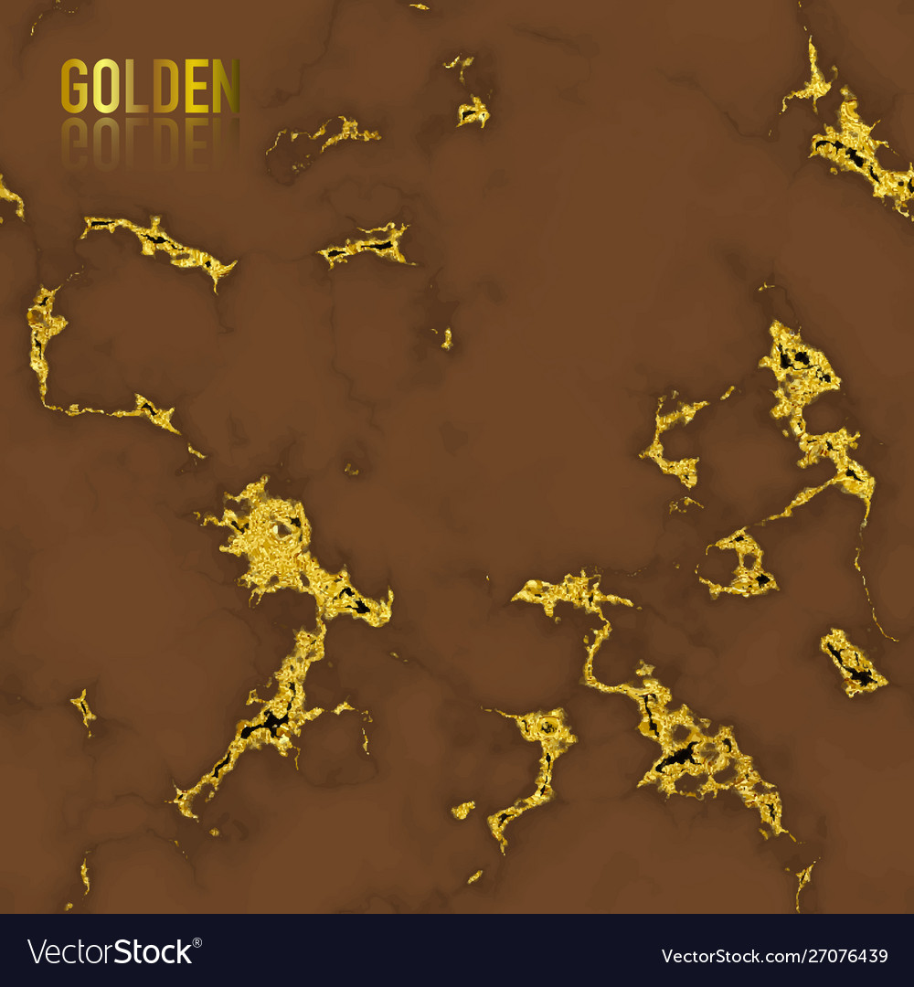 Brown marble with gold foil texture seamless