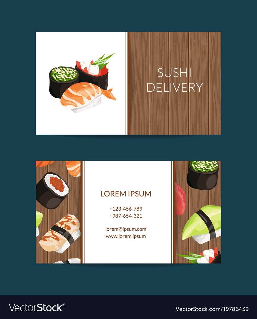Business card templates in cartoon style