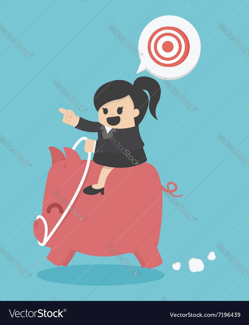 Businesswoman goal vector image