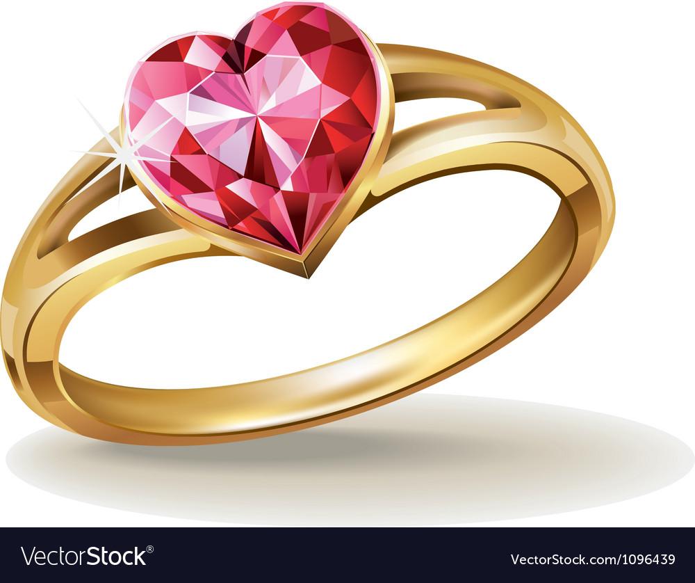 Diamondring vector image