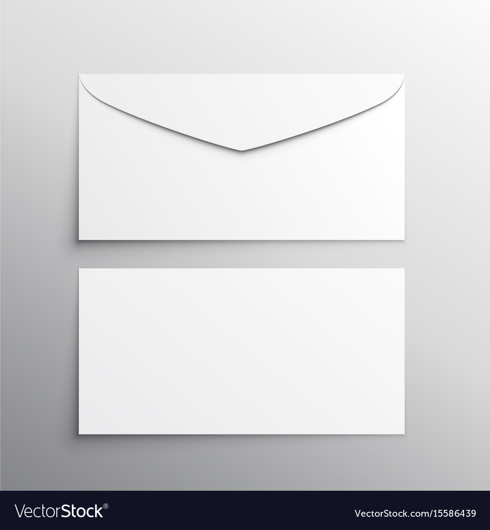 envelope front and back mockup template royalty free vector