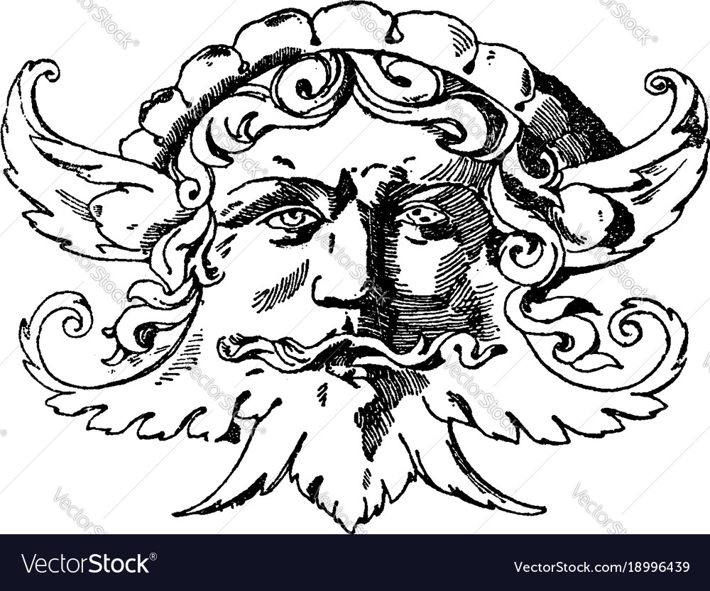 Grotesque mask was designed during the italian