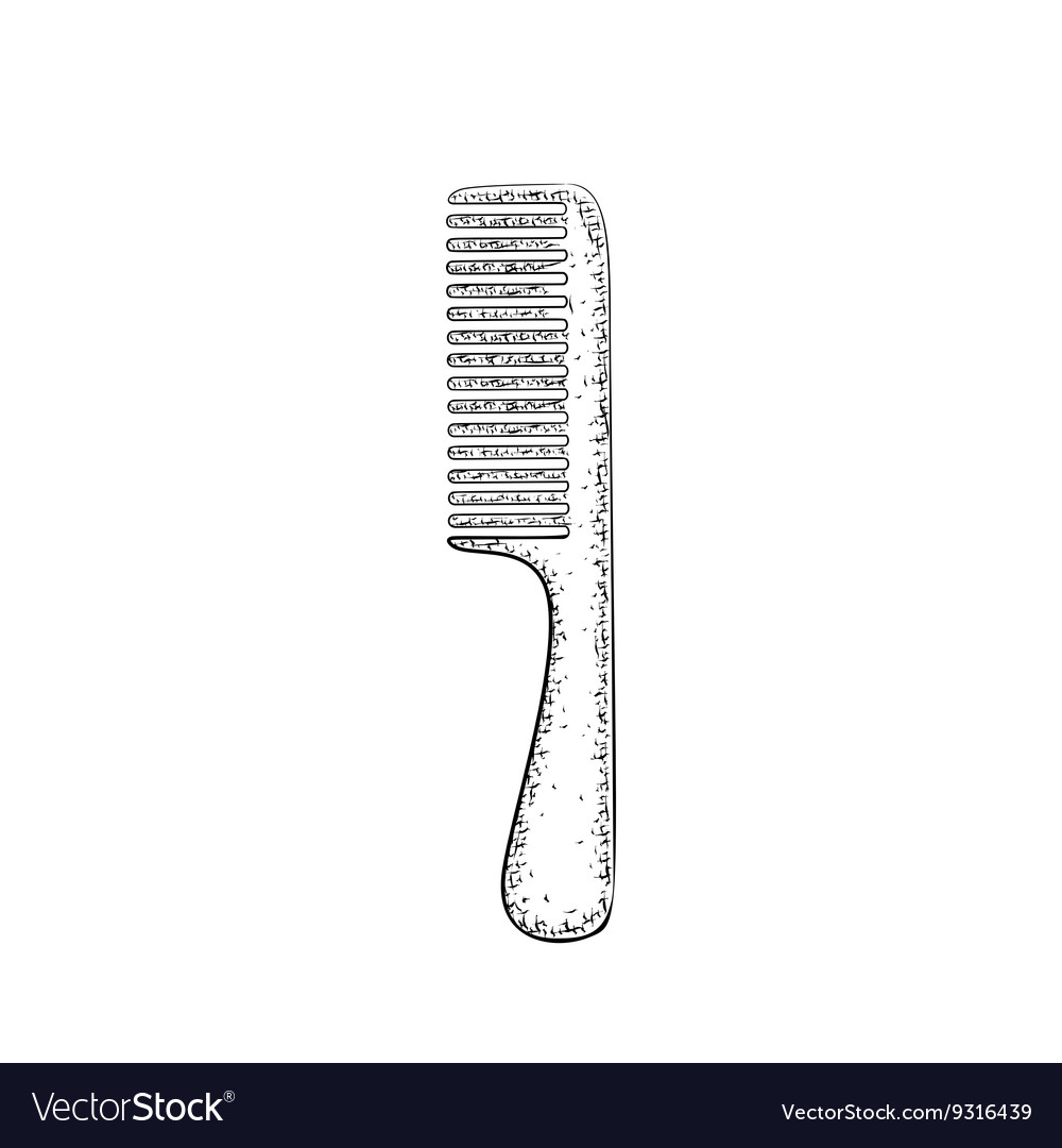 Hand drawn comb vector image