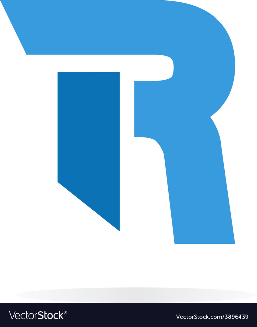 Logo R letter for company design template vector image