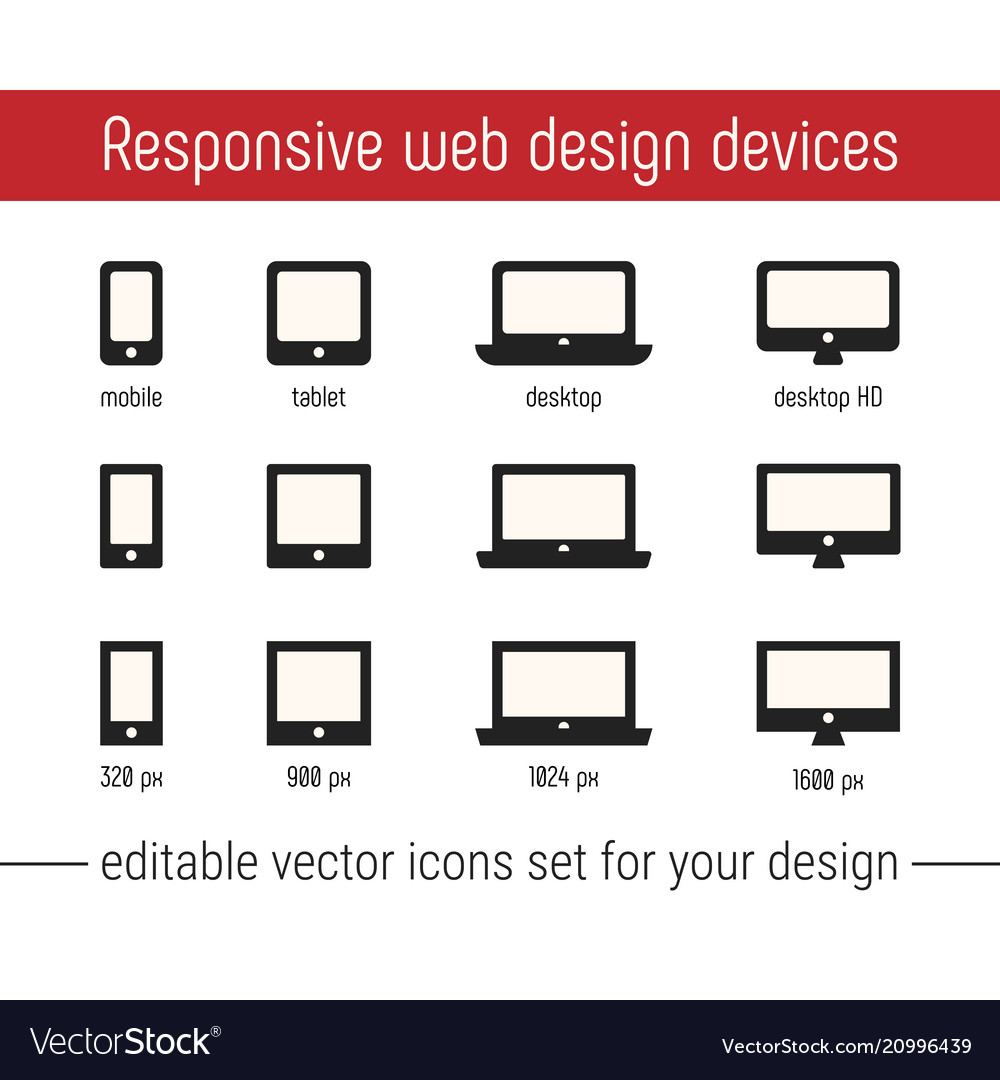Responsive icon images flat responsive design
