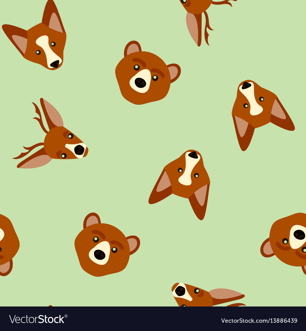 Seamless pattern of color animals