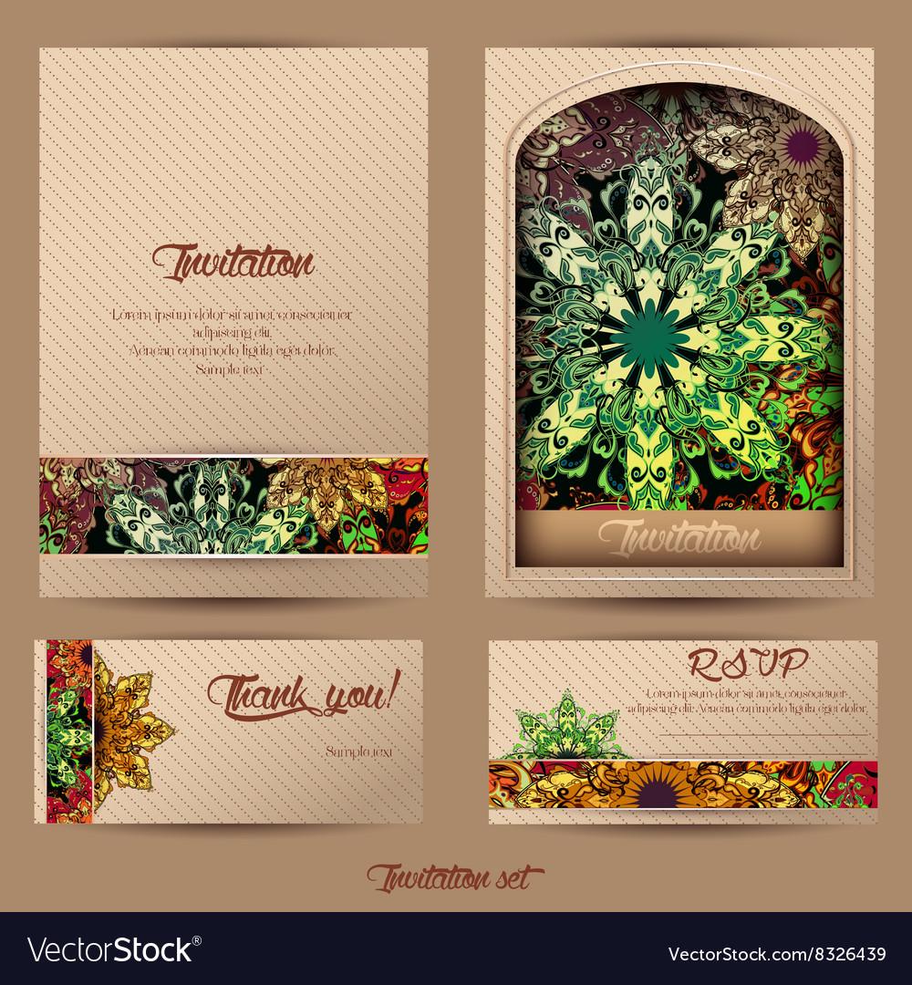 Vintage cards mandala 2