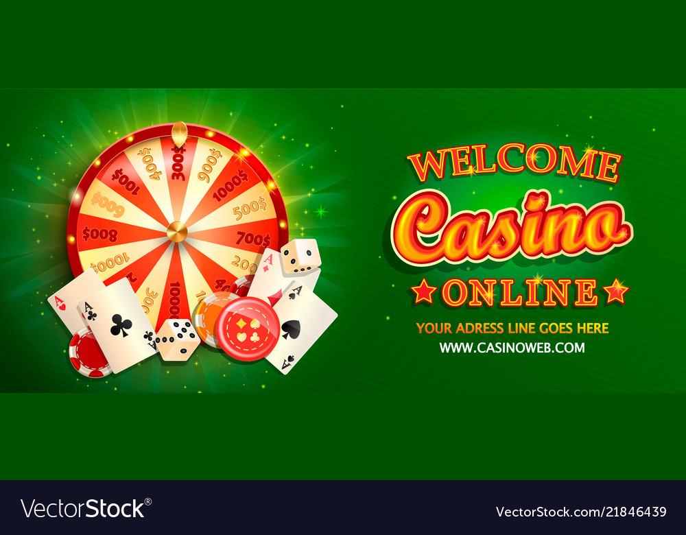 Welcome online casino banner