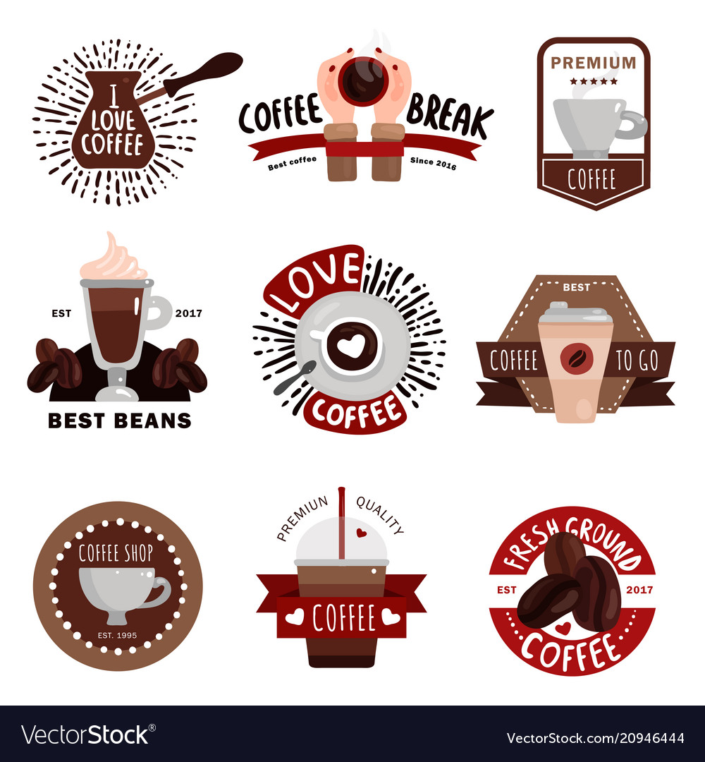 Coffee production emblems