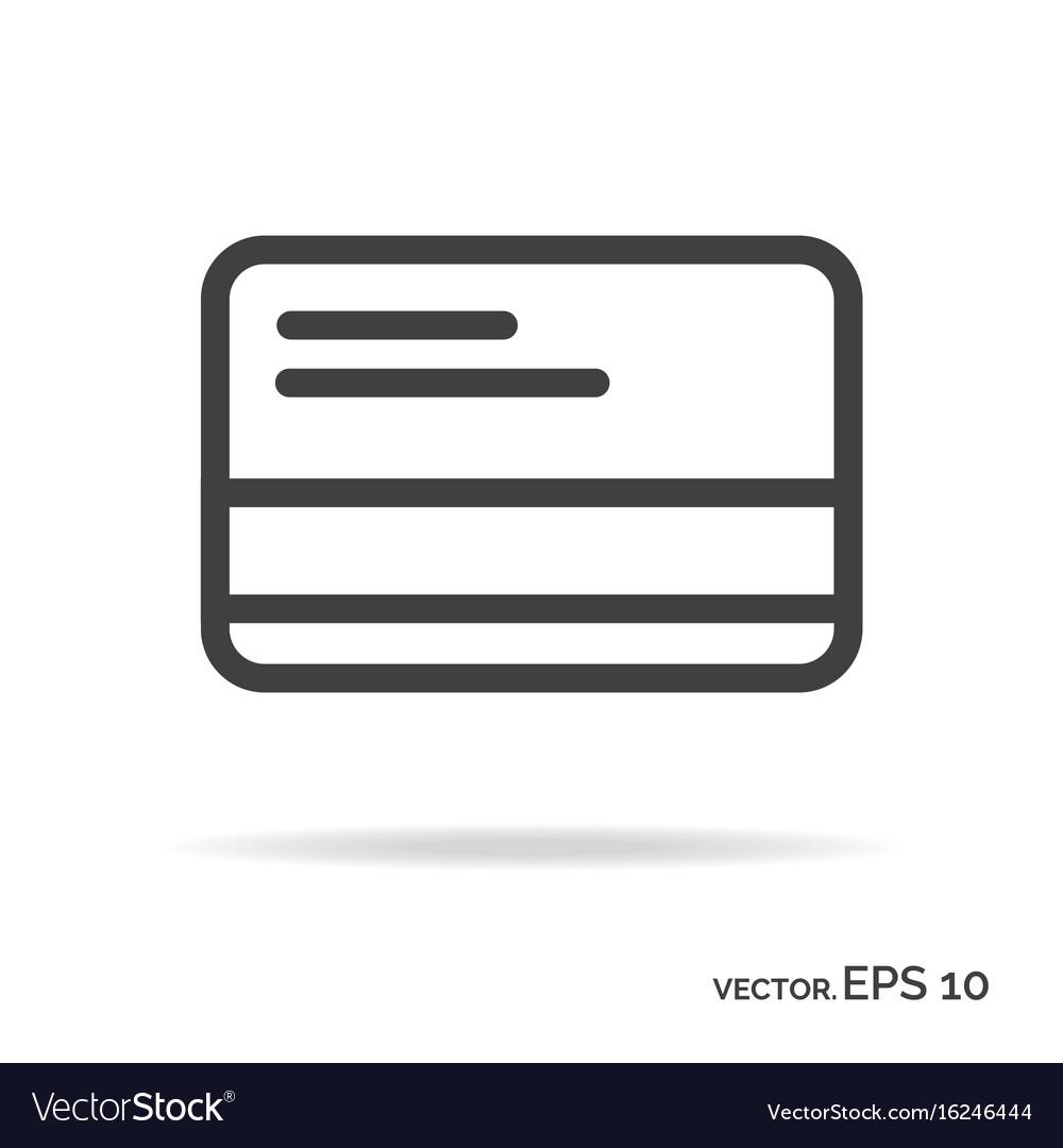 Credit card outline icon black color
