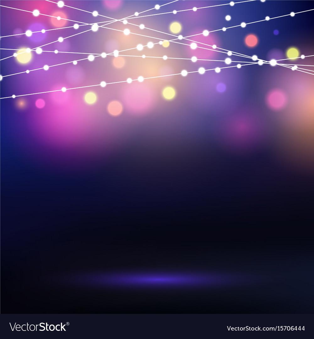 Decorative string lights vector image