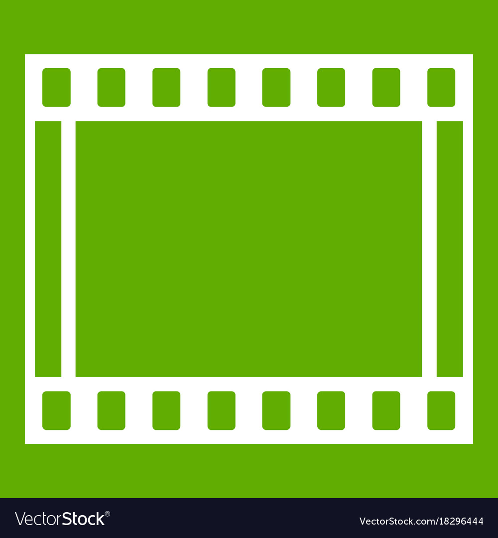 Film with frames movie icon green Royalty Free Vector Image
